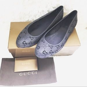 Gucci Rubber Jelly Flats Size 39